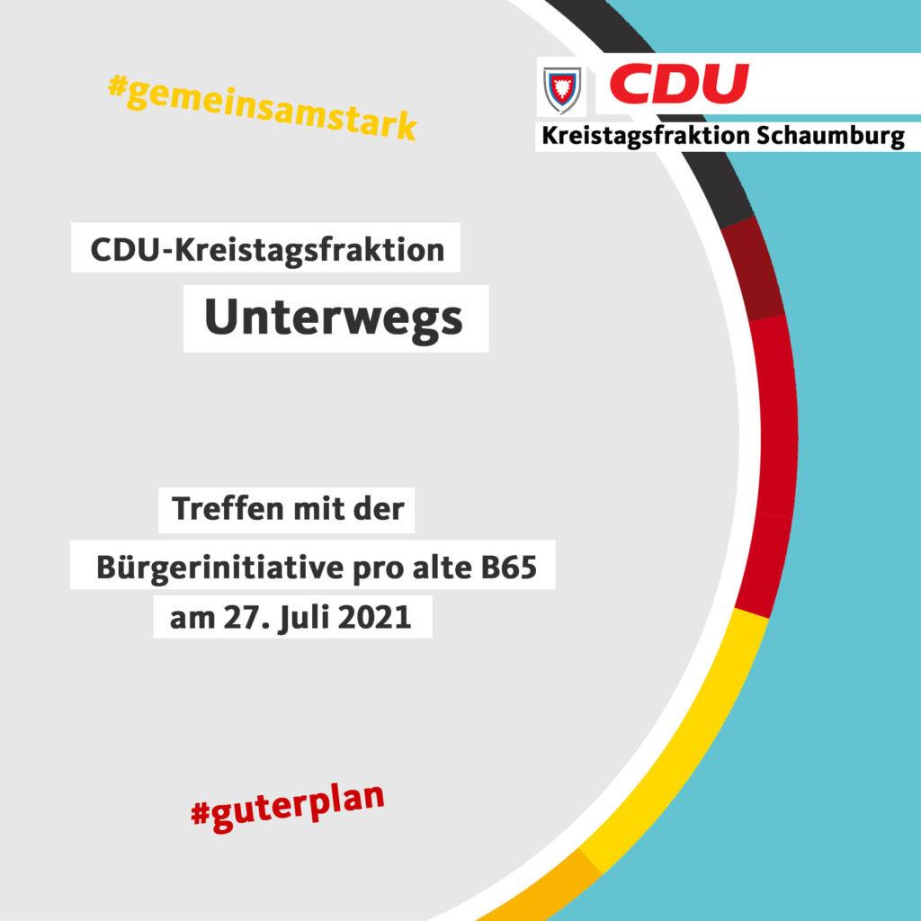 Treffen der BIPAB65 mit der CDU Kreistagsfraktion am 27.07.21